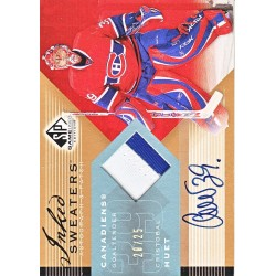 HUET / AEBISCHER 2006-07 SP GAME USED EDITION DUAL AUTO PATCH /15