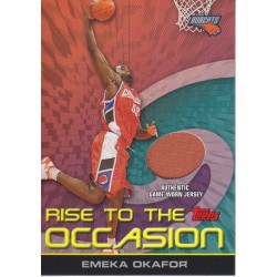 EMEKA OKAFOR 2005-06 TOPPS RISE TO THE OCCASION JERSEY