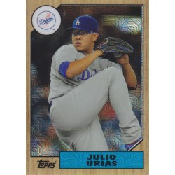 JULIO URIAS 2017 TOPPS SILVER PACK 1987 CONTINUITY