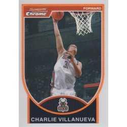 CHARLIE VILLANUEVA 2007-08 BOWMAN CHROME REFRACTOR /299