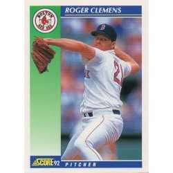 ROGER CLEMENS 1992 SCORE