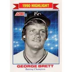 GEORGE BRETT 1991 SCORE HIGHLIGHT