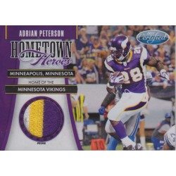 ADRIAN PETERSON 2011 CERTIFIED HOMETOWN HEROES JERSEY PATCH /50