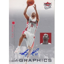 T.J FORD 2007-08 FLEER ULTRA AUTOGRAPHICS BLUE AUTO