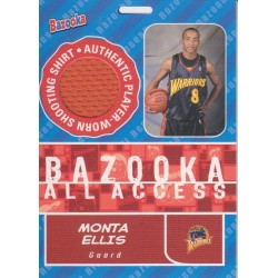 MONTA ELLIS 2005-06 BAZOOKA ALL ACCESS JERSEY