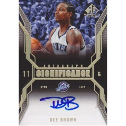 DEE BROWN 2007-08 SP GAME USED SIGNIFICANCE AUTO