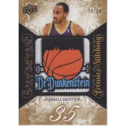 DARRELL GRIFFITH 2008-09 UD PREMIER STITCHINGS PATCH /50