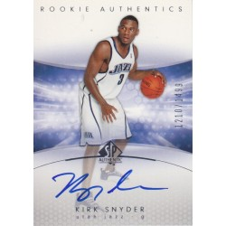 KIRK SNYDER 2004-05 SP AUTHENTIC ROOKIE AUTO /1499