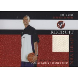 CHRIS BOSH 2003-04 TOPPS PRISTINE RECRUIT SHOOTING SHIRT ROOKIE