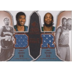 BREWER / RICHARD 2007-08 SP ROOKIE THREADS DUAL JERSEY