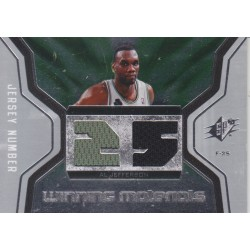AL JEFFERSON 2007-08 SPX WINNING MATERIALS JERSEY