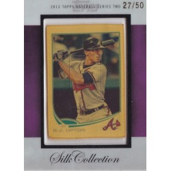 BJ UPTON 2013 TOPPS SILK COLLECTION