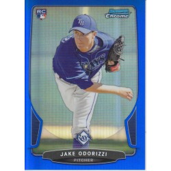 JAKE ODORIZZI 2013 BOWMAN CHROME BLUE REFRACTOR ROOKIE /250