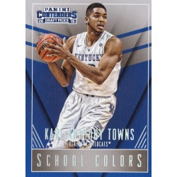 KARL-ANTHONY TOWNS 2016-16 PANINI CONTENDERS DRAFT PICKS SCHOOL COLORS ROOKIE