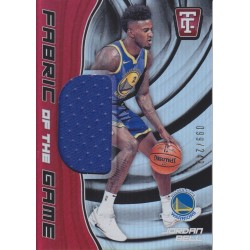 JORDAN BELL 2017-18 CERTIFIED FABRIC OF THE GAME JERSEY /249