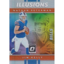 NATHAN PETERMAN / JIM KELLY 2017 DONRUSS OPTIC ILLUSIONS PRIZM