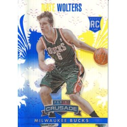 NATE WOLTERS 2013-14 CRUSADE BLUE ROOKIE