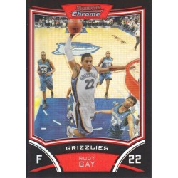 RUDY GAY 2008-09 BOWMAN CHROME REFRACTOR /499