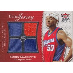 COREY MAGGETTE 2007-08 FLEER ULTRA QUAD JERSEY /50