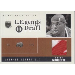 COREY MAGGETTE 2004-05 FLEER LEGENDS OF THE DRAFT PATCH /25
