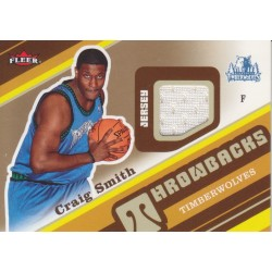 CRAIG SMITH 2006-07 FLEER THROWBACKS JERSEY