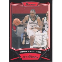 AL JEFFERSON 2008-09 BOWMAN JERSEY