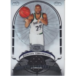 AL JEFFERSON 2007-08 BOWMAN STERLING JERSEY