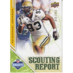 MICHAEL JOHNSON 2009 DRAFT EDITION SCOUTING REPORT /350