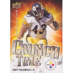 TROY PLOAMALU 2009 UD FIRST EDITION CRUNCH TIME