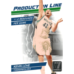 KEVIN LOVE 2010-11 DONRUSS PRODUCTION LINE