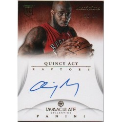 QUINCY ACY 2012-13 Immaculate Inscriptions Autograph RC /99