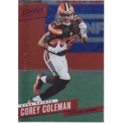 COREY COLEMAN 2017 PRESTIGE XTRA POINTS PURPLE /100
