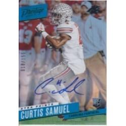 CURTIS SAMUEL 2017 PRESTIGE XTRA POINTS GREEN ROOKIE AUTO /150