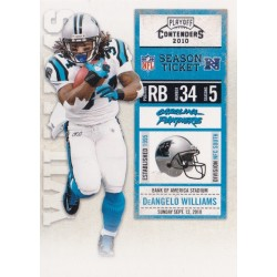 DeANGELO WILLIAMS 2010 PANINI PLAYOFF CONTENDERS