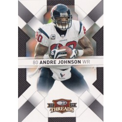 ANDRE JOHNSON 2009 DONRUSS THREADS