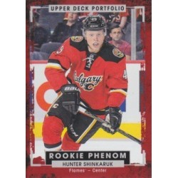 HUNTER SHINKARUK 2015-16 UD PORTFOLIO ROOKIE PHENOM