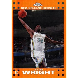 "JULIAN WRIGHT 2007-08 TOPPS CHROME RC "" ORANGE "" REFRACTOR /199"