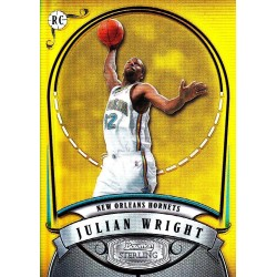"JULIAN WRIGHT 2007-08 BOWMAN STERLING RC "" GOLD "" REFRACTOR /99"