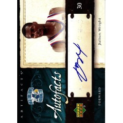 JULIAN WRIGHT 2007-08 UD ARTIFACTS RC AUTO