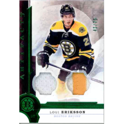 LOUI ERIKSSON 2016-17 UD ARTIFACTS EMERALD DUAL PATCH /75