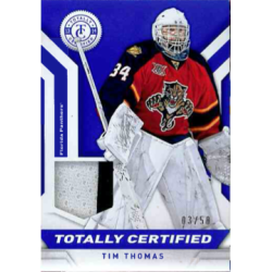 TIM THOMAS 2013-14 CERTIFIED BLUE PATCH /50