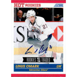 LINUS OMARK 2011 SCORE ROOKIES AND TRADED AUTO