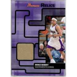 MIKE BIBBY 2007 BOWMAN RELICS JERSEY