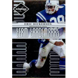ERIC DICKERSON 2008 LEAF LIMITED TEAM TRADEMARKS /999