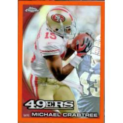 MICHAEL CRABTREE 2010 TOPPS CHROME ORANGE REFRACTOR
