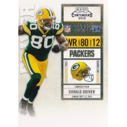 DONALD DRIVER 2010 PANINI PLAYOFF CONTENDERS