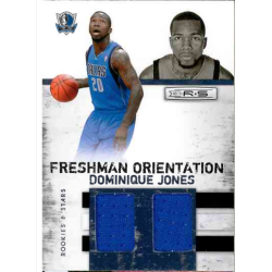 DOMINIQUE JONES 2010-11 PANINI RS FRESHMAN ORIENTATION JERSEY /399