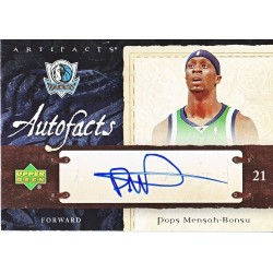 POPS MENSAH-BONSU 2007-08 ARTIFACTS AUTO