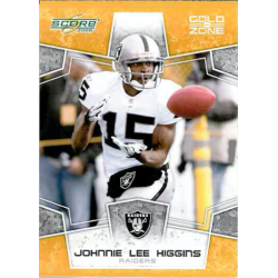 JOHNNIE LEE HIGGINS 2008 SCORE GOLD ZONE /400