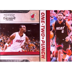 LEBRON JAMES / CHRIS BOSH 2010-11 CONTENDERS PATCHES ONE TWO PUNCH /299